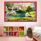 Unicorn Fairytale Fantasy Forest Wall Sticker Art Mural Poster Kids Room Dr6
