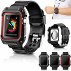 For Apple Watch 38/42mm Sport iWatch Protective Rugged Bumper Case Strap Band