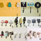 Set 3 Resin Key Hook Bag Hanger Coat Rack Wall Mount Home Decor