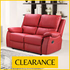 CAMEO 2 Seater Bonded Leather Recliner Sofa Pocket Sprung High Back CLEARANCE