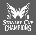 Washington Capitals 2018 Stanley Cup Champions White Vinyl Decal on eBay