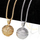 3d Basketball Necklace Men Sports Pendant Hiphop Fan Jewelry Chain Gift Male