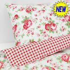 Valdern Rosali Duvet Cover Set Bedding Floral Pattern 100% Cotton