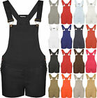 Womens Dungaree Playsuit New Ladies Pocket Buckle Strap Shorts Jumpsuit Top 8-14