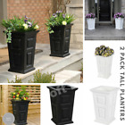 tall outdoor planter - Tall Planter Outdoor High Grade Planters Long Lasting Durable Built in Reservoir
