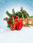 6X9ft Red Christmas decoration Photography Background Backdrops Studio Props