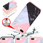 Granite Marble Hybrid Rubber Shockproof Hard Case Cover For iPhone X 7 8 Plus