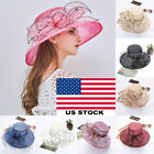 Women's Fascinators Kentucky Derby Church Dress Wedding Floral Party Hat