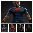 SuperHero Marvel Mens Compression T-shirt Short Sleeves Shirt Gym Sport Cycling  image