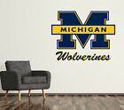 Michigan Wolverines Wall Decal Logo College Ncaa Art Sticker Vinyl Large Sr01