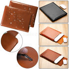 For MacBook Air 11 12 Pro 13 15 Retina Leather Laptop Sleeve Bag Case Cover New