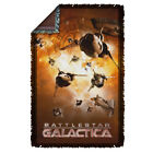 Battlestar Galactica TV Show DOG FIGHT Vipers & Cylons Woven Throw Blanket