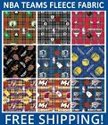 "NBA Fleece Fabric All Teams Sports Collection - 60"" Wide - Free Shipping!! on eBay"