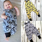 Newborn Baby Mamas Boy Cotton Romper Jumpsuit sunsuit Outfits Sleeveless Clothes