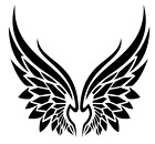 Angel Wings Tribal Vinyl Decal Sticker Home Wall Cup Car Decor Choose Size Color