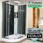 Vidalux Pure E 1200 x 800 Right Black Electric shower Cabin Enclosure Pod
