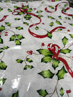 "Christmas 50 x 70""  printed tablecloth with scalloped edge,100% Polyester"