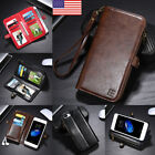 For iPhone X 6 6s 7 8 Plus Magnetic Leather Case Card Wallet Holder Cover Stand