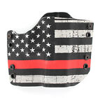 R&R HOLSTERS: Walther - OWB HOLSTER - USA Grunge Red Line
