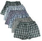 New 3-6 Mens Boxer Check Plaid Shorts Trunk Underwear Cotton Briefs Beach S-3XL