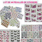 LOT 44 FEUILLES STICKERS AUTOCOLLANT DECORATION FRENCH ONGLE NAIL ART ONG077
