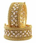 Bollywood Indian Partywear Traditional Beautiful 2 Pcs Polki Bangles Jewelry