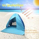 Camping Summer Beach Tent Blue Anti-UV Automatic Pop Up Sun Protection Portable