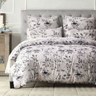 Microfiber Duvet Cover 3 Piece Set Floral Bed Bedding Twin Queen  King Size Girl