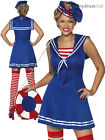Ladies Sailor Cutie Costume Adults Sexy Navy Fancy Dress Womens Military Outfit