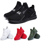 Men Athletic Shoes Breathable Lightweight Trainer Running Lace Up Solid Sneakers