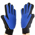 Pet Dog Grooming Cleaning Massage Brush Glove Cat Hair Removal Deshedding True
