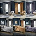 Luxury Crushed Velvet Duvet Cover Sets / Matching Curtains / Cushion Covers LW image