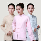 Women's Cotton Traditional Chinese Tang Suit Tops Kung Fu Tai Chi Uniform Blouse
