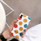 INS Polka Dot Color Summer Wave Point Soft Case Cover for IPhone X 8 7 6S Plus