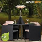 Garden Glow Patio Heater 2.1KW Electric Rattan Table Top Outdoor Fire Heating