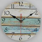 Timelike 12 Inch Vintage Arabic Numerals Wooden Wall Clock