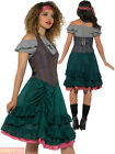 Ladies Deluxe Pirate Wench Costume Adult Caribbean Buccaneer Fancy Dress Womens
