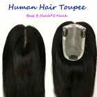 New Mono Base of 3.5''*5.9'' Womens Mens Human Hair Topper Toupee Hairpieces