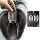 Hand Tied Womens Human Hair Topper Hairpiece With Clips 6''8''10''12''14''16''