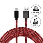 Heavyduty Braided Fast Charge USB C Type C Data Phone Charger Cable kabel 2m 3m