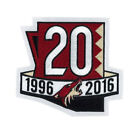 2017 Arizona Coyotes 20th Anniversary Jersey Patch - National Emblem $24.0 USD on eBay