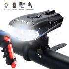 MTB Bike Bicycle Cycling USB Rechargeable LED Head Front Light/Rear Tail Lamp UK