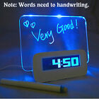 Digital Smart Alarm Clock With LED Message Board Dimmable LCD Display Hot #ur
