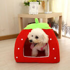 Pet Dog Cat Puppy Cave House Cushion Home Soft Cute Washable Strawberry Shape