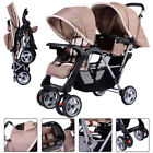 3 Colors Foldable Twin Baby Double Stroller Kids Jogger Travel Infant Pushchair