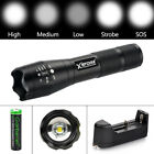 Tactical 90000LM T6 LED Flashlight 18650 Ultra Bright Zoomable Torch Lamp Light