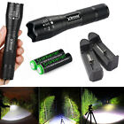 Tactical 90000LM T6 LED 18650 Ultra Bright Zoomable Flashlight Torch Lamp Light