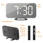 6.5 LED Alarm Clock with Dual USB Ports Dimmable Brightness Mirror Clock