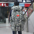 Large Army Rucksack Backpack Hiking 80L Tactical Camping Military Survival Bag