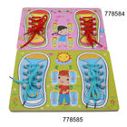Shoe Tying Teaching Kit Board for Toddlers Learn To Tie Shoelace Learning Toy D